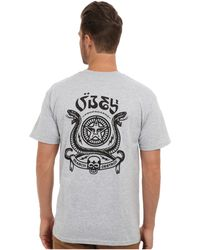 Obey Serpientes Basic Tee - Lyst