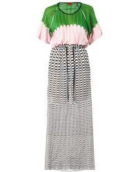 Missoni Mare Chevron and Colourblock Knit Maxi Dress - Lyst