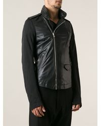 Rick Owens Fitted Biker Jacket - Lyst