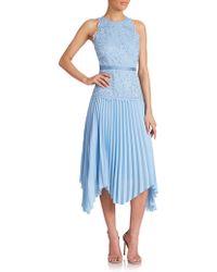 Shoshanna Sahara Lace-Top Dress blue - Lyst