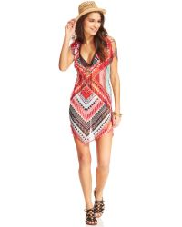 Becca Aztecprint Tunic Cover Up - Lyst