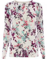 Oasis Painted Blossom Jumper - Lyst