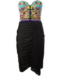 Emilio Pucci Beaded Bustier Dress - Lyst