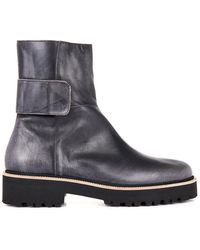 MM6 by Maison Martin Margiela Burnished Leather Ankle Boots - Lyst