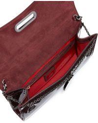 Christian Louboutin Riviera Patent Clutch Bag - Lyst