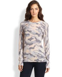 Equipment Sloane Textured Camouflage-print Sweater - Lyst