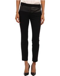 Tibi Anson Stretch Patchwork Skinny Pant W Embossed Combo - Lyst