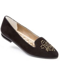 Me Too Becky Studded Suede Loafers - Lyst