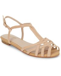 Seychelles Can'T Trust Myself Leather Sandals beige - Lyst