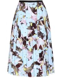Erdem Imari Floral-Printed Cotton Skirt - Lyst