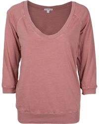 James Perse Oversized Sweatshirt Top - Lyst