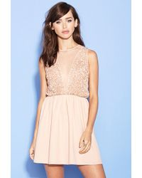 Forever 21 Sequin Fit & Flare Dress - Lyst