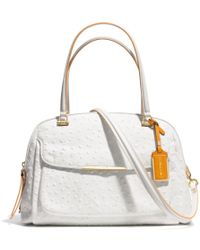 Coach Madison Georgie In Ostrich Embossed Edgepaint Leather - Lyst