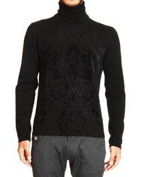 Roberto Cavalli - Just Cavalli Sweater Turtleneck Flocked Print - Lyst