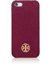 Tory Burch Robinson Pebbled Hardshell Case For Iphone 5 - Lyst