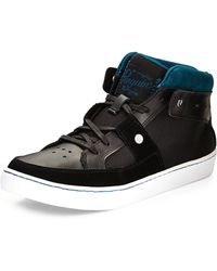 Original Penguin After Hours Leather & Mesh Sneaker - Lyst