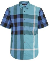 Burberry Brit Large Check Short Sleeve Shirt - Lyst