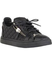 Giuseppe Zanotti Black Double-zip Sneakers - Lyst