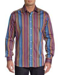 Etro Bright Stripe Sportshirt - Lyst