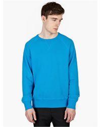 Acne Studios Men'S Blue College Sweatshirt - Lyst
