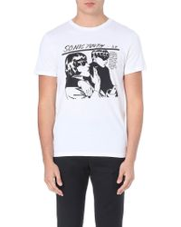 Sandro Sonic Youth Cotton-jersey T-shirt - For Men - Lyst