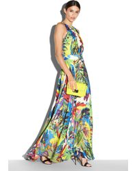 Milly Arabelle Floral-Print Halter Maxi Dress multicolor - Lyst