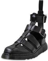 Dr. Martens Leather Gladiator Sandals - Lyst