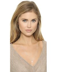 Helen Ficalora - Baby Disc With Diamond Charm - Silver - Lyst