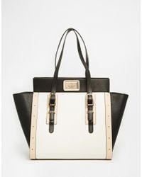 Lipsy - Black Large Winged Tote - Lyst