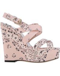 D&G Pink Sandals - Lyst