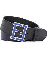 Fendi Zucca Ffbuckle Belt - Lyst