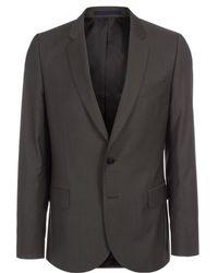 Paul Smith | Men's Dark Grey Mid-fit Wool-mohair Blazer | Lyst