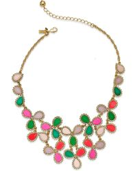 Kate Spade Gold-Tone Multicolor Balloon Stone Statement Necklace - Lyst