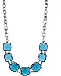 Lauren by Ralph Lauren Rhinestone Accented Chain Link Necklace - Lyst