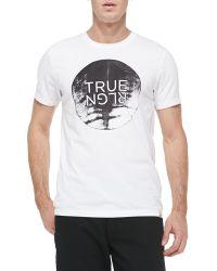 True Religion Moon Rise Crewneck Logo Tee - Lyst