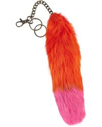 Topshop Sheepskin Key Chain by Marquesalmeida X - Lyst