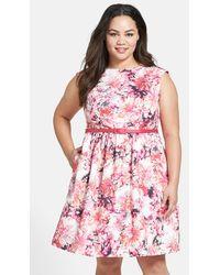 Eliza J Floral Print Fit & Flare Dress - Lyst