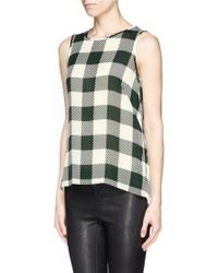 Rag & Bone Harper Check Silk Sleeveless Blouse - Lyst