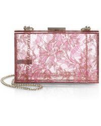 Love Moschino Lucite & Lace Box Clutch - Lyst