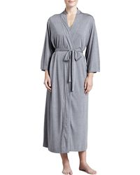 Natori Shangrila Jersey Robe Heather Gray - Lyst