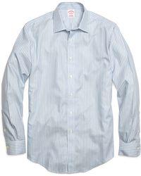 Brooks Brothers Non-iron Regular Fit Twin Stripe Sport Shirt - Lyst