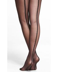 Express Chain Link Back Seam Full Tights - Lyst