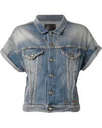 R13 Short Sleeve Denim Jacket - Lyst