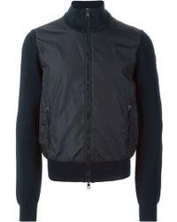 Moncler Blue Panelled Sweatshirt - Lyst