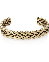 Forever 21 Burnished Woven Cuff - Lyst