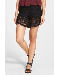 Blu Pepper - Lace Shorts - Lyst