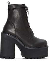 Nasty Gal Unif Choke Leather Boot - Lyst