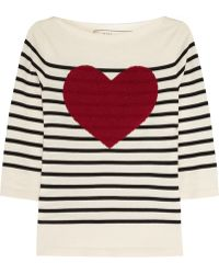 Marc Jacobs Sequined Striped Cotton-blend Sweater - Lyst