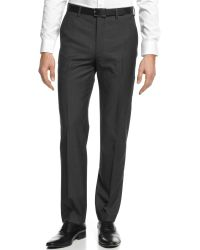 DKNY Grey Pants Extra Slim Fit - Lyst