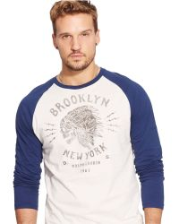 Denim & Supply Ralph Lauren Skull-Graphic Baseball T-Shirt - Lyst